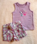 Jumping Beans Toddler Girl 2PC Purple Short Set w/Butterflies 2T