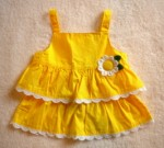 Gymboree Toddler Girl Yellow Tiered Top w/Flower 2T