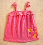 Jumping Beans Toddler Girl Pink Babydoll Top w/Butterflies 2T