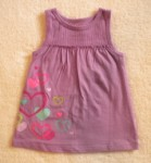 Jumping Beans Toddler Girl Purple Babydoll Top w/Hearts 2T