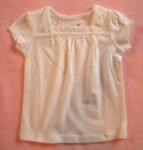 Jumping Beans Toddler Girl White Top w/Ruffled Neckline 2T