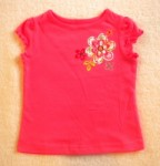 Jumping Beans Toddler Girl Dark Coral Top w/Flowers 2T