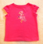 Jumping Beans Toddler Girl Hot Pink Top w/Tropical Bird 2T