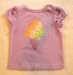 Jumping Beans Toddler Girl Light Purple Top w/Ice Cream Cone 2T