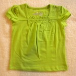Jumping Beans Toddler Girl Green Top w/Ruffled Neckline 2T