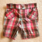 Jumping Beans Toddler Girl Pink/Brown Plaid Bermuda 2T