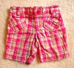 Jumping Beans Toddler Girl Pink/White Plaid Bermuda 2T