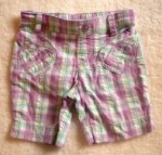 Jumping Beans Toddler Girl Purple/White Plaid Bermuda 2T