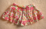 Jumping Beans Toddler Girl White Skirt w/Red Flowers 2T