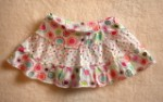 Jumping Beans Toddler Girl White Skirt w/Colorful Polka Dots 2T
