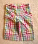 Jumping Beans Toddler Girl Hot Pink Checked Capri Pants 2T