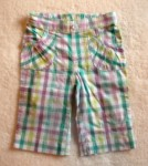 Jumping Beans Toddler Girl Purple/Teal Checked Capri Pants 2T
