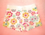 Jumping Beans Toddler Girl White Shorts w/Bright Flowers 3T