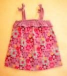 Jumping Beans Toddler Girl Purple Babydoll Top w/Flowers 3T