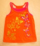 The Children's Place Toddler Girl Orange/Pink Layered Tank 4T