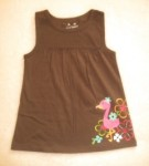 Jumping Beans Toddler Girl Brown Babydoll Top w/Tropical Bird 4T