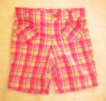 Jumping Beans Toddler Girl Pink/White Plaid Bermuda 4T