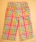 Jumping Beans Toddler Girl Hot Pink Checked Capri Pants 4T